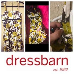 ❤Black Yellow Dress Barn Floral Dress Size 8 (EUC)